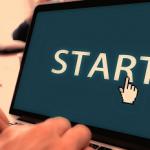 """computer screen that reads """"start"""""""
