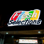 fresh selections sign