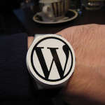 wordpress watch on person's wrist