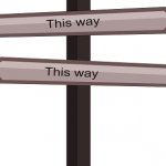 this way sign, blog vs website guidance