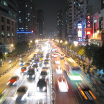 city traffic at night, increase your blog traffic