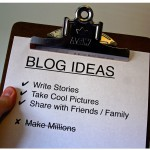 blog tips, blog ideas clipboard