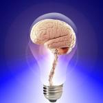 blog post ideas, brain in lightbulb