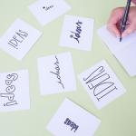 blog titles, idea cards