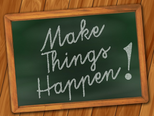 blog, make things happen blackboard