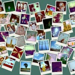 using images in blog posts - polaroids